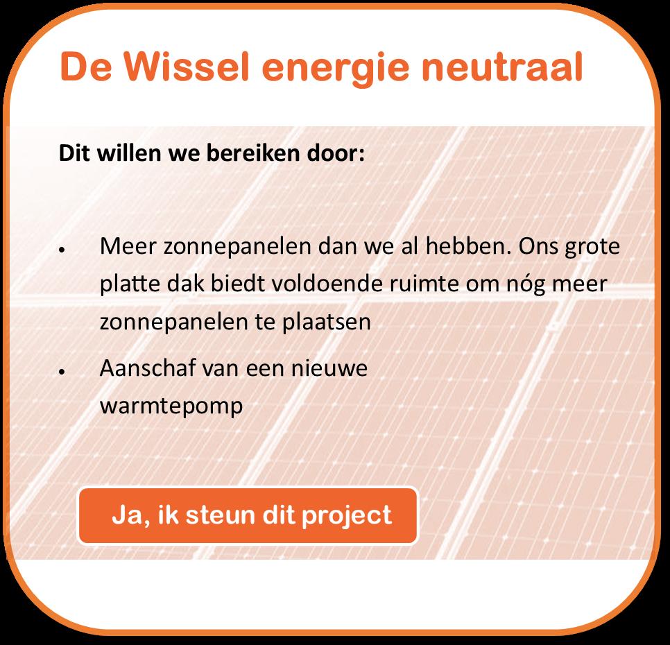 Steun de Wissel energieneutraal